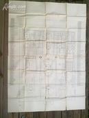 【极罕】民国超大开本地图:国立北平故宫博物院平面全图(104.5*148CM)