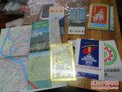 1565:峨眉山导游图  南京旅游图 漓江游 等4张