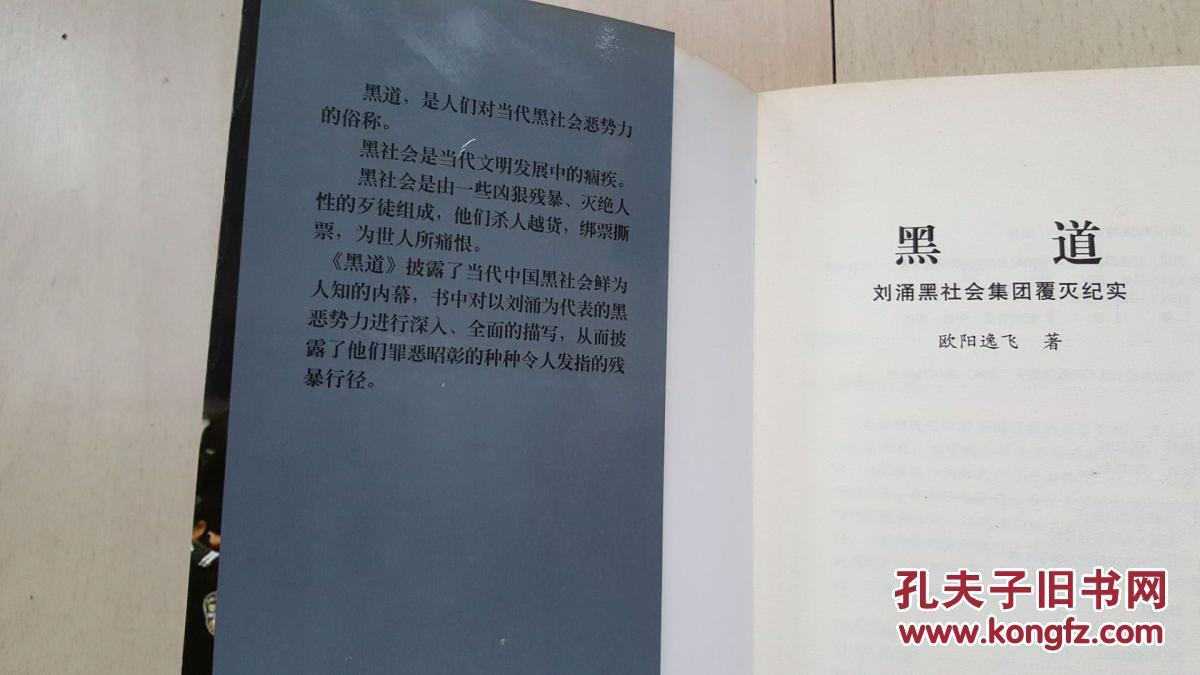 《黑道:刘涌黑社会集团覆灭纪实》非馆藏 直板 包邮挂