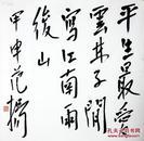 【范扬】书法 托裱   纸本    69×70cm (约4.4平尺) 【作品描述】签名:范扬。钤印:范扬印。