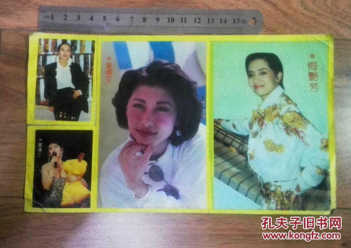 90年代当红歌星叶倩文,梅艳芳不干胶贴画图片