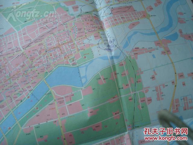2006年最新版2开有封面无标洛阳市旅游景点分布图吉利区放大图印鹿泉物业者别墅大图片