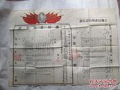 2开带红色毛头像的贵州省某县土地所有证(内容涉及共同纲领)