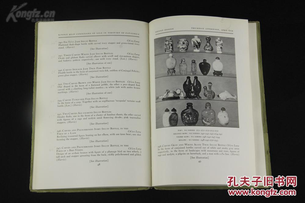 老夫子旧书市场_1950年帕克·伯内特(Parke-Bernet)苏富比前身《HANS MUELLER藏中国及 ...