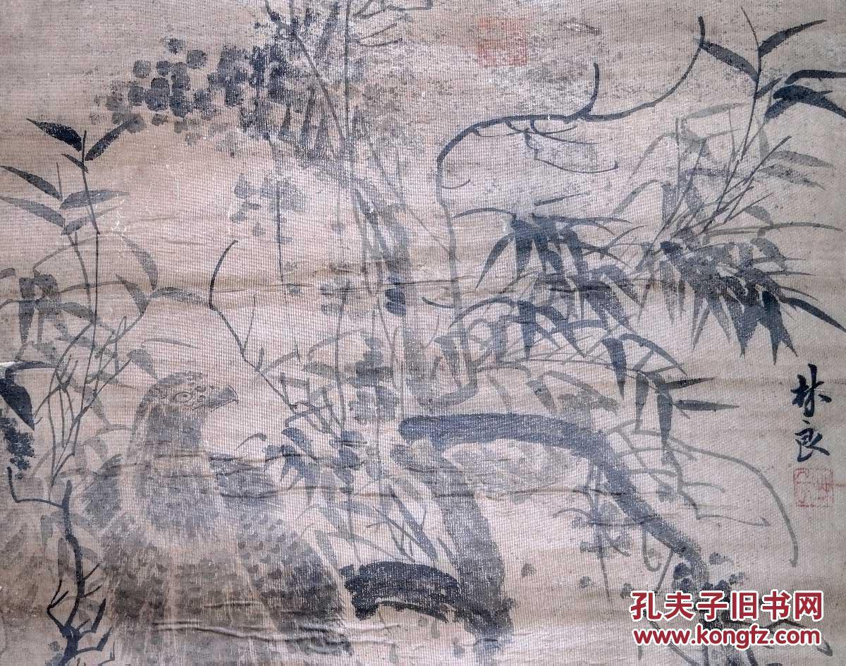 手绘古代名人字画老画图片