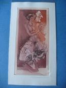 藏书票:《裸女主题的图案》比利时 Joris Momment 有签名