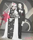 民国老照片:美女结婚。婚纱漂亮合影。一九三五年七月七日——七夕节——真巧
