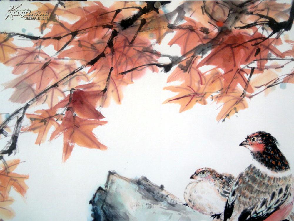 安徽著名老画家【周觉均】四尺整张-----花鸟图片