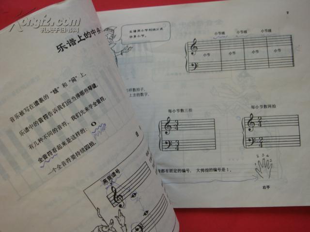 汤普森简易钢琴教程(1)图片