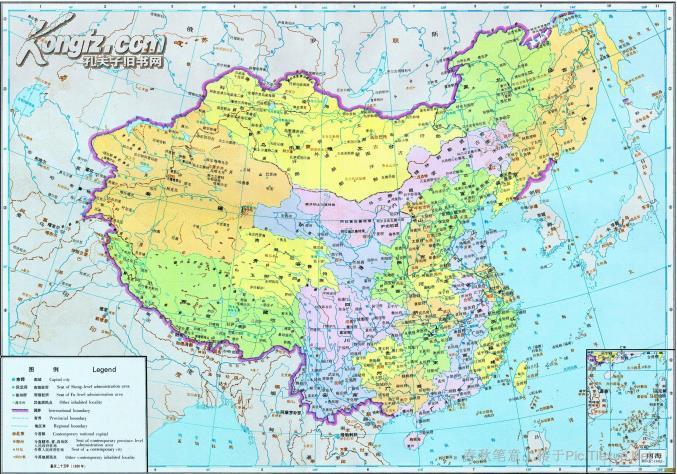 【图】中国地形图(比例尺1:4500000)
