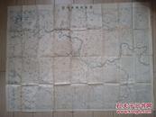 战时日军军事院校内发行的【辽阳及附近地图】《学校教练用地图》  大幅109*79厘米