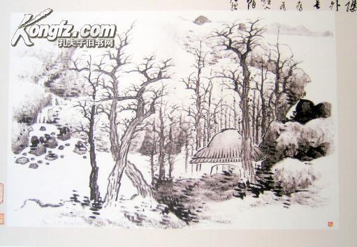龚贤小品山水画(全24张册页)图片
