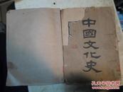 中国文化史(民国21年初版。全上下册。大16开。上册、下册.南京钟山书局印行..)