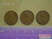 【1940年,1941年,1944年1美分硬币】有一枚年份下有S