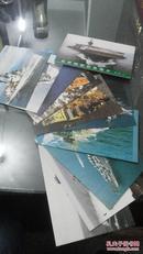 明信片世界舰船彩色图片第一辑上1988年10张未用过无邮资