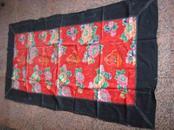 文革褥面516、火车、红旗、葵花、花卉,规格183-92CM,95品。