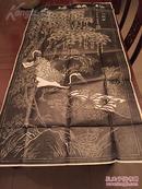 美国回流,《松鹤图》拓片,尺寸:62*120cm