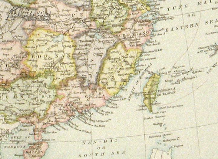 1885年国外印的中国地图