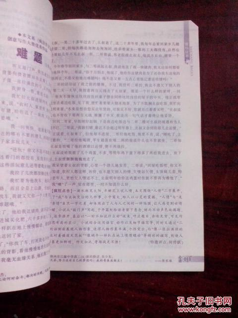 疯狂作文高中版2010年7-8期课外高中生阅读调查图片