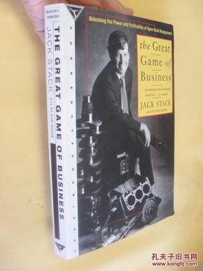 英文原版     The Great Game of Business by Jack Stack 作者签赠本