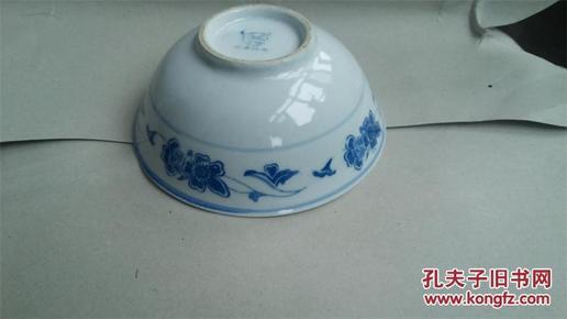 青花旧瓷碗-湖南.石湾牌.瓷碗 16厘米 详情如图所制图片