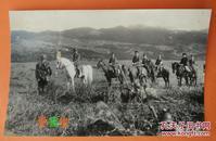 伪满洲国日本关东军高级将领视察炮兵部队伪装侦查野战训练老照片