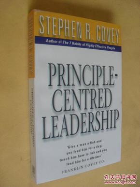 英文原版  大开本  原则至上的领导艺术  Principle Centered Leadership