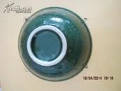 【清,大口径豆青 牡丹花纹寿字碗 完好无损,光泽如初 【保老】代售