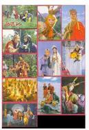 1988年版中国现代出版社、中国出版外贸公司版《西游记》一版一印,唐僧封套+10枚大全