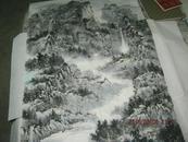 中国国画家协会会员任冰大幅山水画杰作一幅【青山入梦】保真