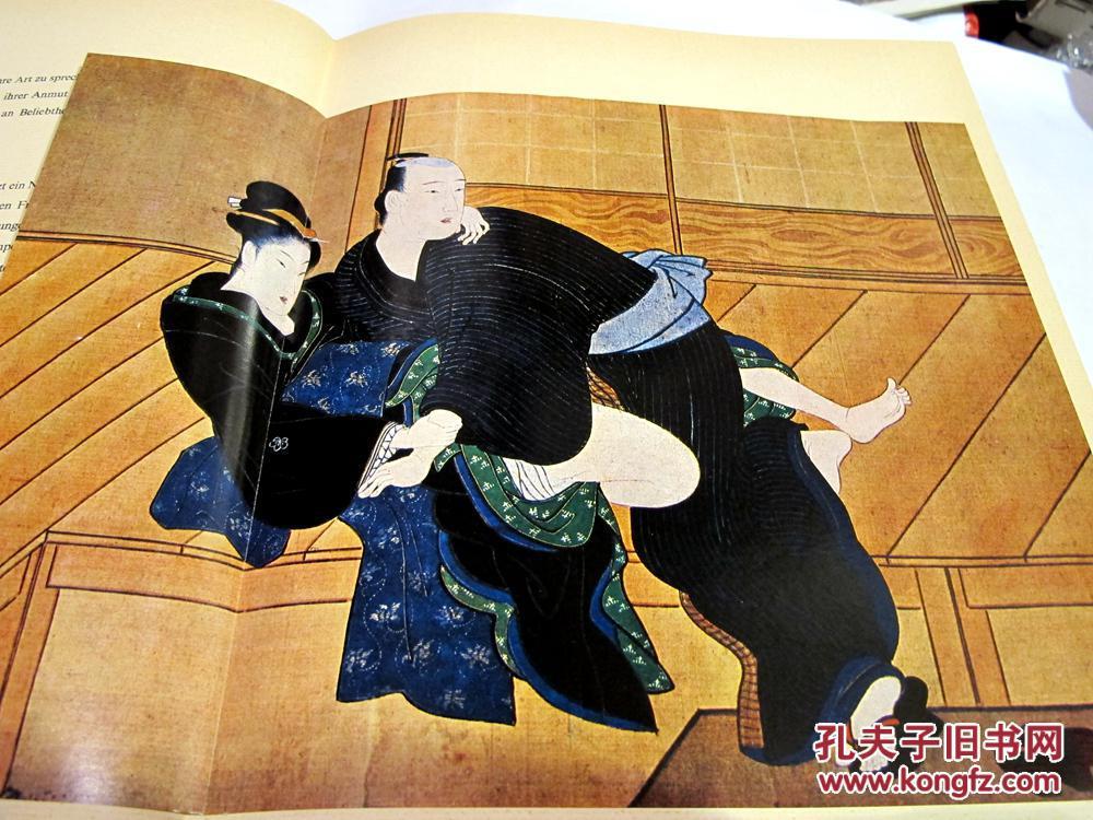 日本情色ddd42_布面精装/封皮/大开本德文1968年版日本浮世绘情色春宫画册charels