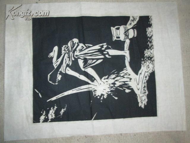 黑白木刻版画9图片