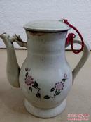文革瓷器人民公社好花瓷茶壶一把