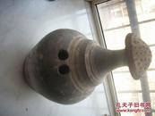 汉代-灰陶【水浇】!完整!高30厘米,底直径12厘米