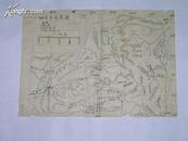 五幅不同大小的手绘地图一起拍(不知是哪位学者或大家绘制的)