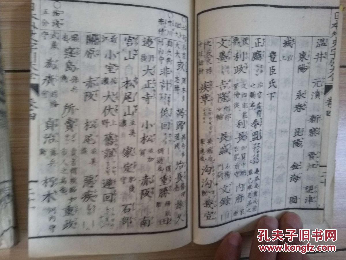 1879年和刻《日本外史字引大全》三册图片