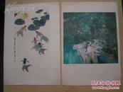 80年代【谢稚柳,李苦禅,潘天寿,程十发等画家】册页9张,没有函套