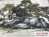 手繪真跡國畫:梅州青年畫家 天鴻(依:練習樹木畫法))