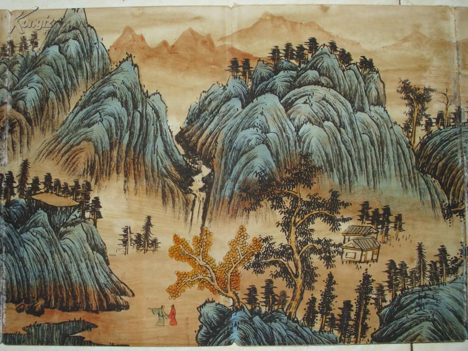 王监山水画册 老画古画国画字画收藏绘画山水人物画古董古玩收藏图片
