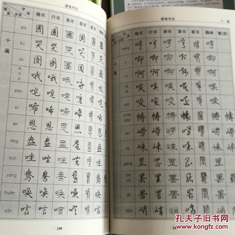 硬笔书法 珍藏本 中国传世书法 技法 钢笔字典 笔画查字 楷书行书隶书