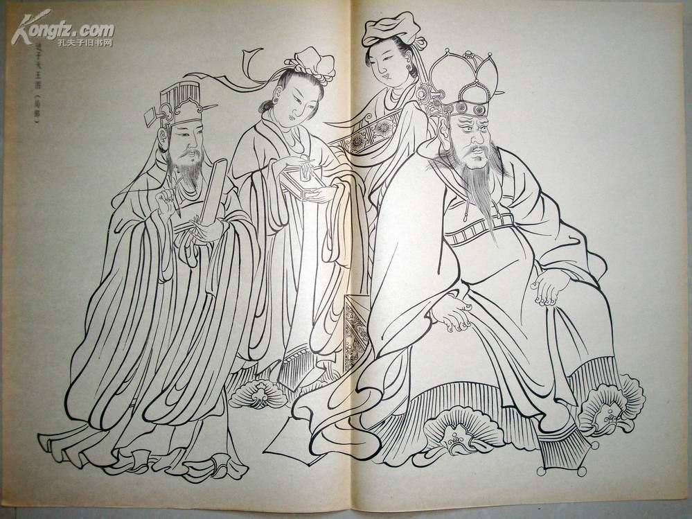 【图】古代人物画线描稿(之一)