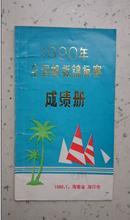1990全国帆板锦标赛 成绩册