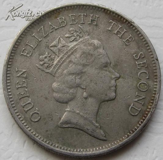 香港 1987年 一元 硬币