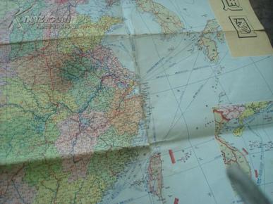 地图】《中国交通图》(附:中国铁路线路示意图)1969