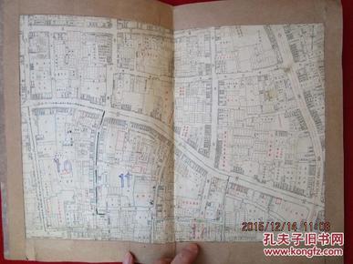 民国时期上海城区地图 !!!非常详细!!!  详细到每个店铺的 名称都标注出来了!