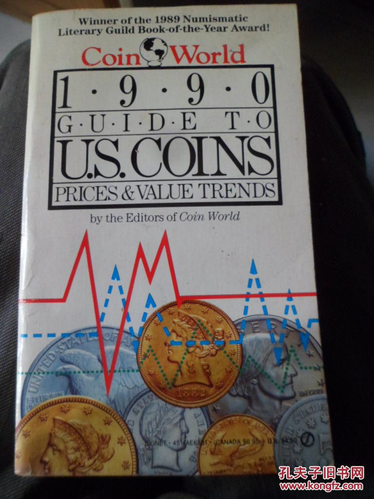 1990 COIN WORLD GUIDE TO U.S.COINS,PRICES&VALUE TRENDS(原版英文)