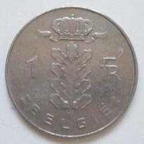 【图】1975年 1988年比利时硬币1法郎_价格:
