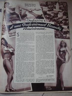 ,1938年法国画报,抗战时期 广州 报道2大版 封面 漂亮国军女救护队
