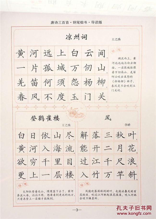写字: 唐诗三百首. 钢笔楷书图片