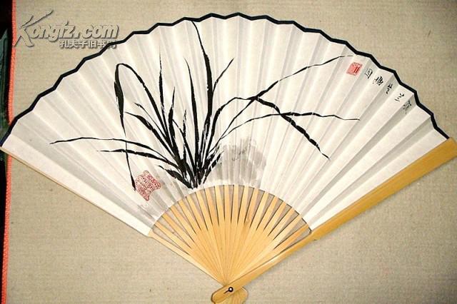 【图】手绘竹子折扇一把